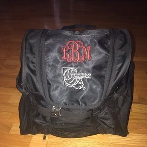 Handbags - Large volleyball backpack with initials LBM
